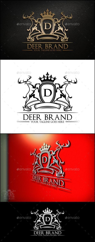 Deer Brand Logo Template - Animals Logo Templates