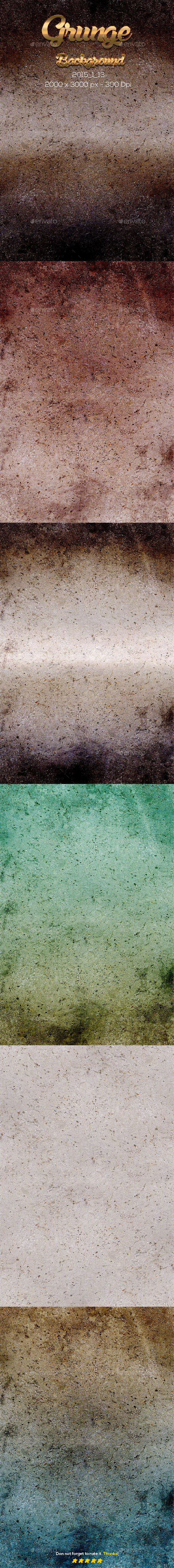 6 Grunge Texture - Backgrounds Graphics