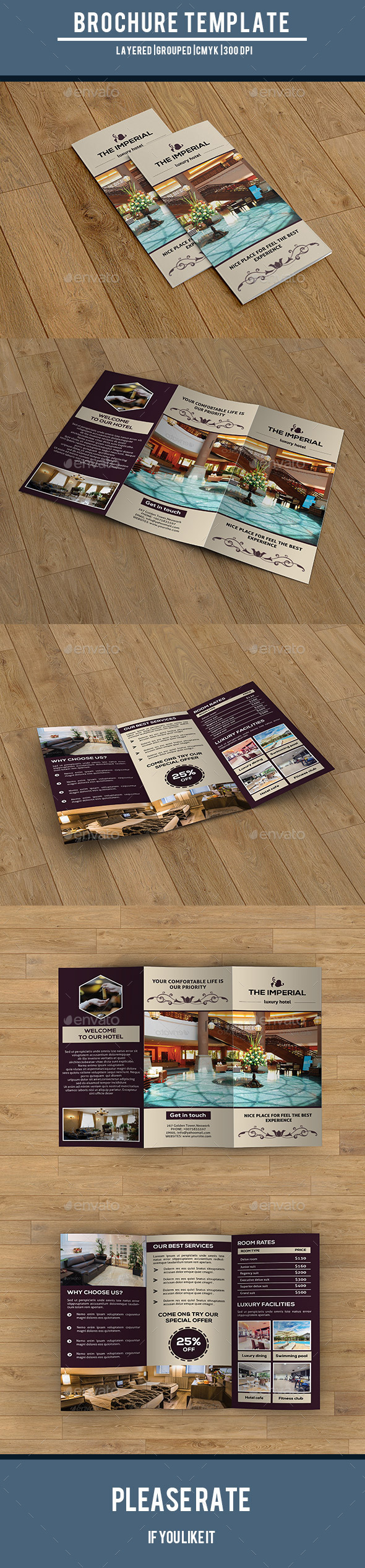 Hotel Business Trifold-V216 - Corporate Brochures