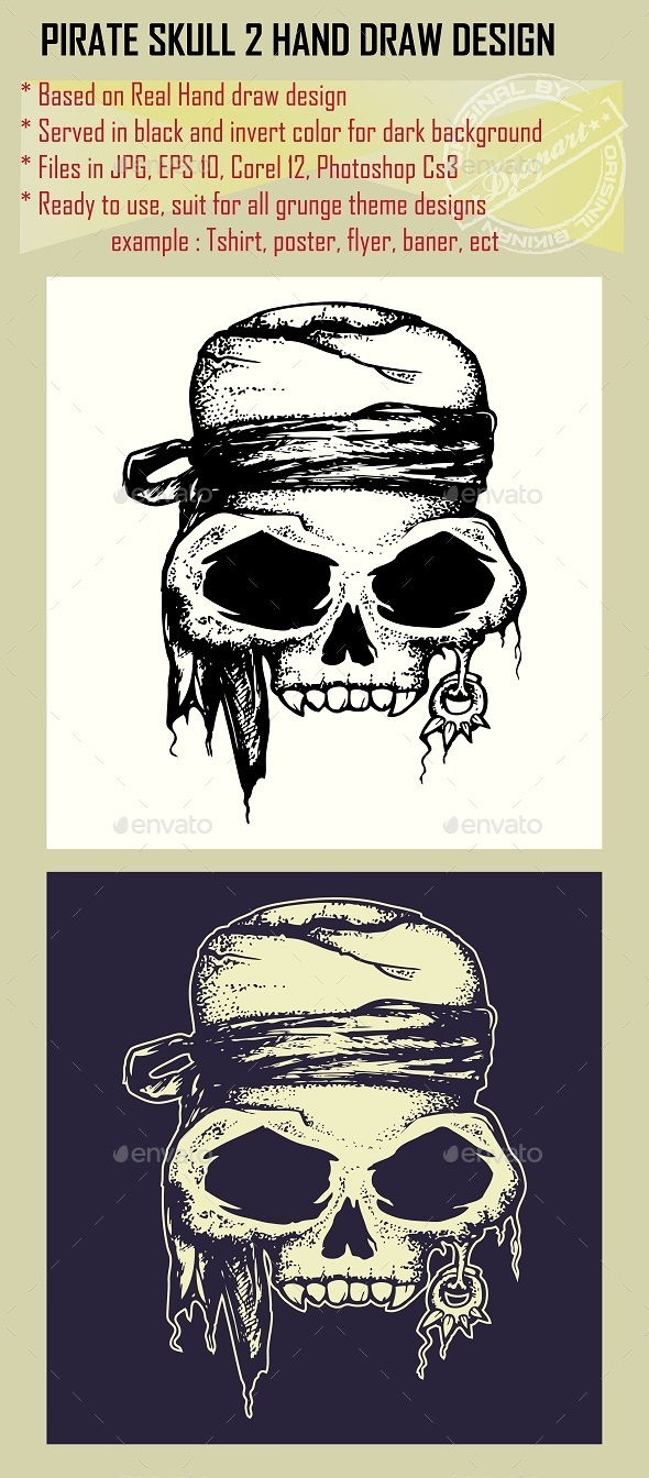 Pirate Skull  - Miscellaneous Characters