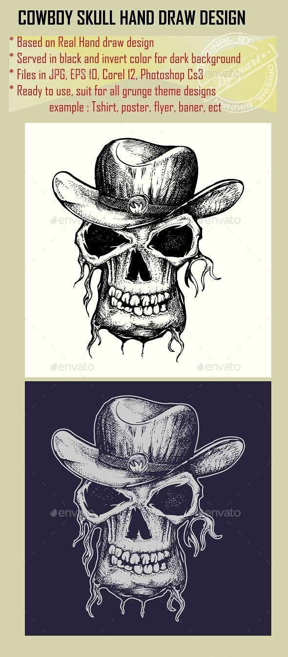Skull with Cowboy Hat - Miscellaneous Characters