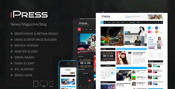 iPress - Blog/Magzine/News Wordpress Theme - News / Editorial Blog / Magazine