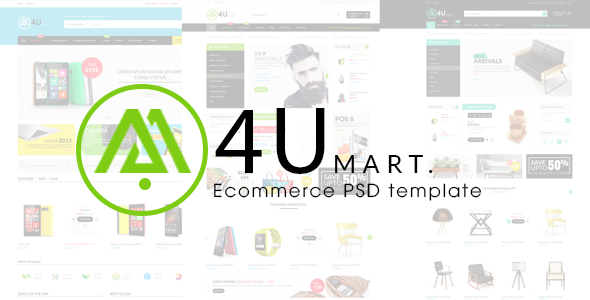 M4U - Ecommerce PSD Template - Shopping Retail