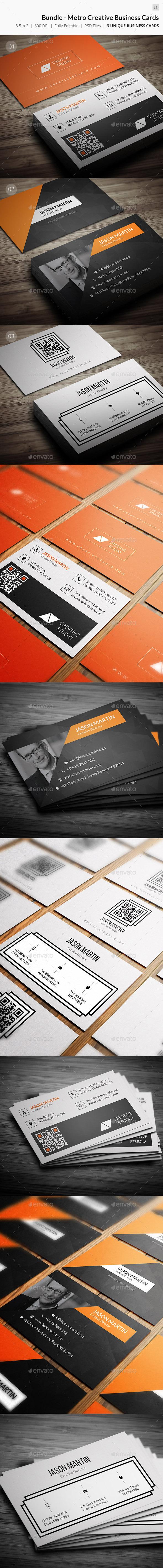 Bundle - Metro Creative Business Cards - 65 - Creative Business Cards