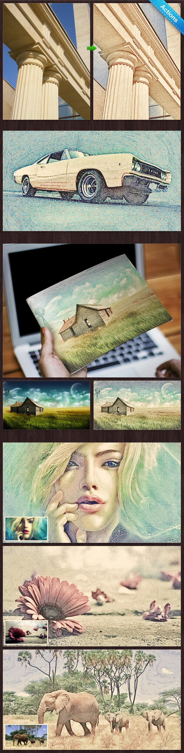 Colorful Pencil Sketch - Photo Effects Actions