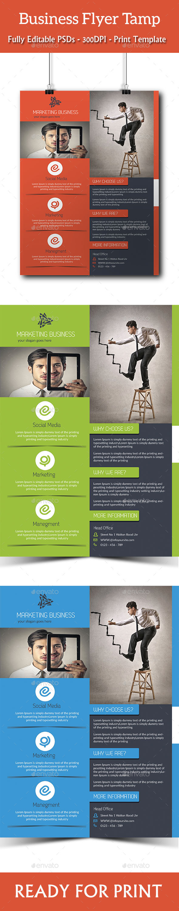 Corporate Business Flyer Template - Corporate Brochures