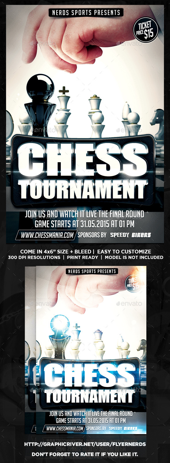 Chess 2K15 Sports Flyer - Sports Events