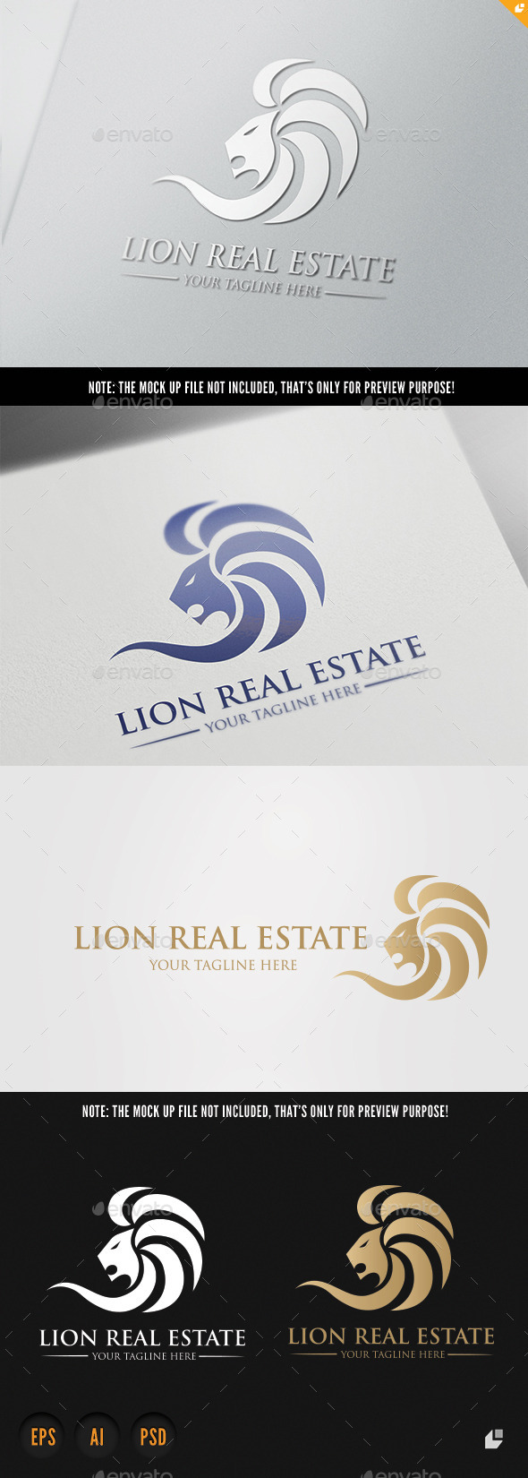 Lion Real Estate - Crests Logo Templates
