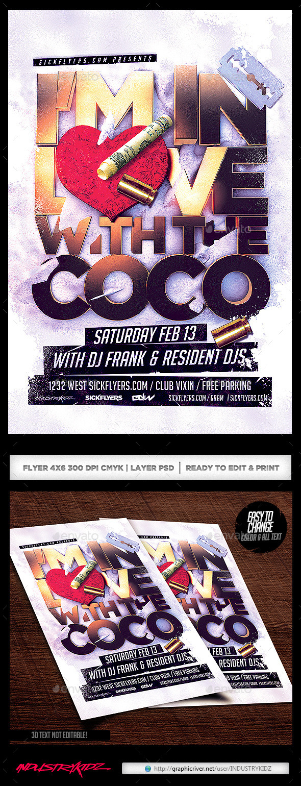 I'm in love with the Coco Flyer PSD - Clubs & Parties Events