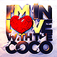 I'm in love with the Coco Flyer PSD - GraphicRiver Item for Sale