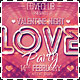 Valentine Love Party Wide Flyer - GraphicRiver Item for Sale