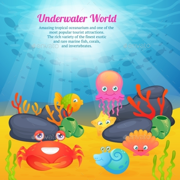 Animals Underwater World Series - Backgrounds Decorative