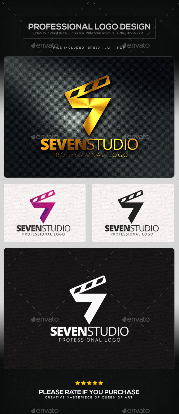 Seven Studio Logo Template - Numbers Logo Templates