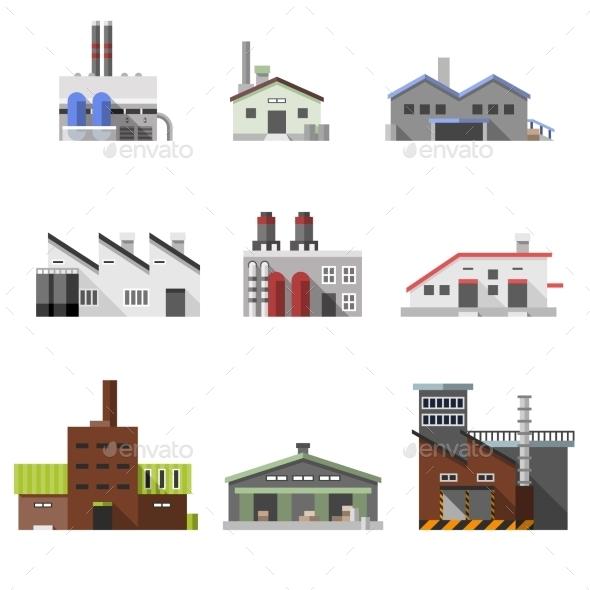 Industrial Buildings Flat - Buildings Objects