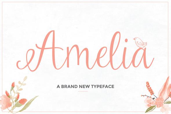 Amelia Script - Hand-writing Script