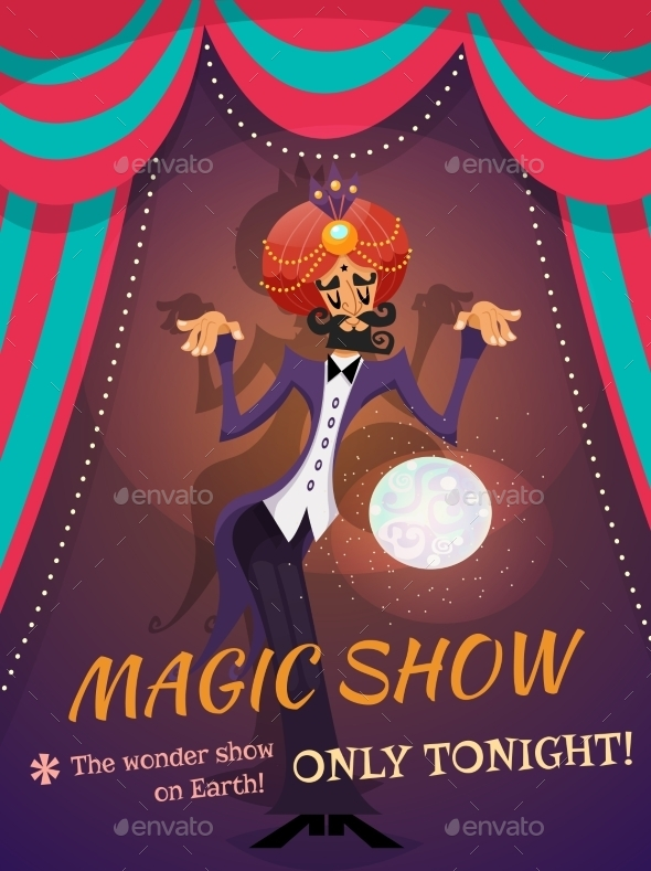 Magic Show Poster - Backgrounds Decorative