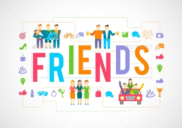 Friends Icons Flat - People Characters
