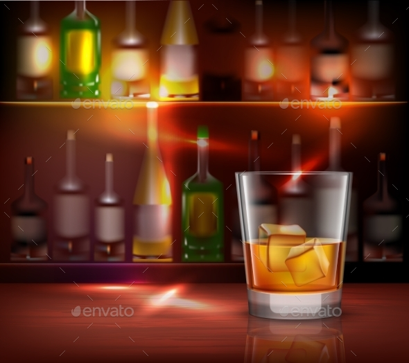 Bar Counter Background - Backgrounds Decorative