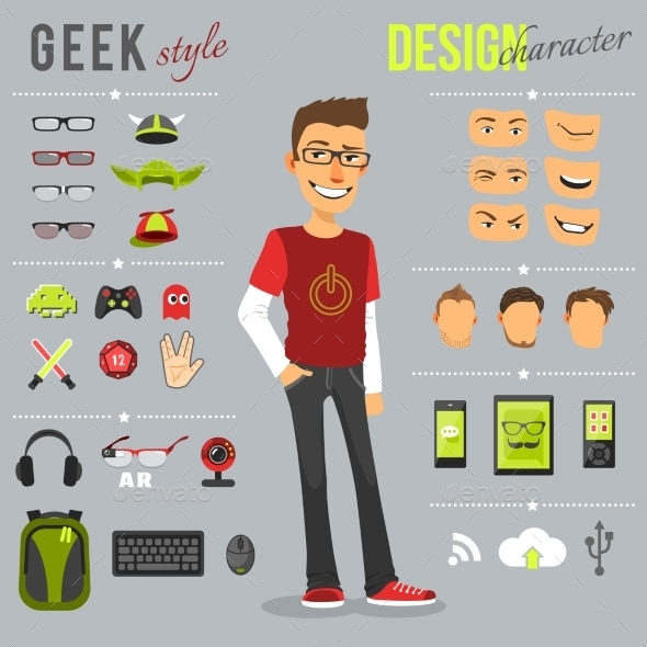 Geek Style Set - People Characters