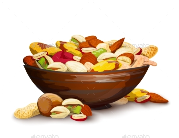 Cup With Nuts - Food Objects
