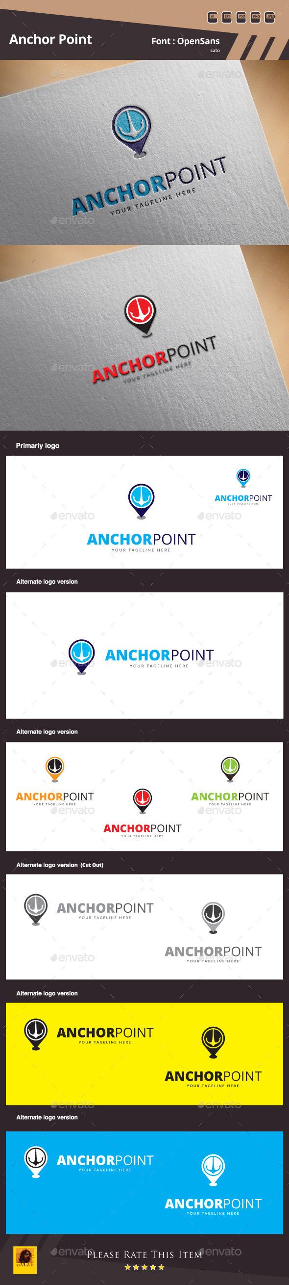 Anchor Point Logo Template - Symbols Logo Templates
