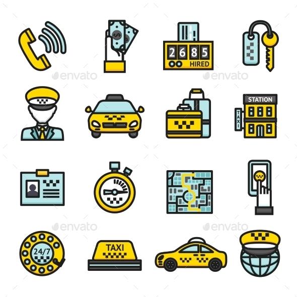 Taxi Icon Set - Miscellaneous Icons