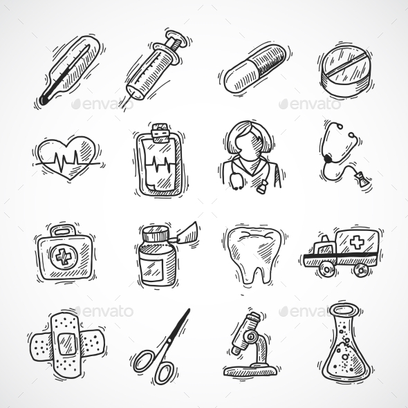 Medical And Healthcare Icons - Health/Medicine Conceptual