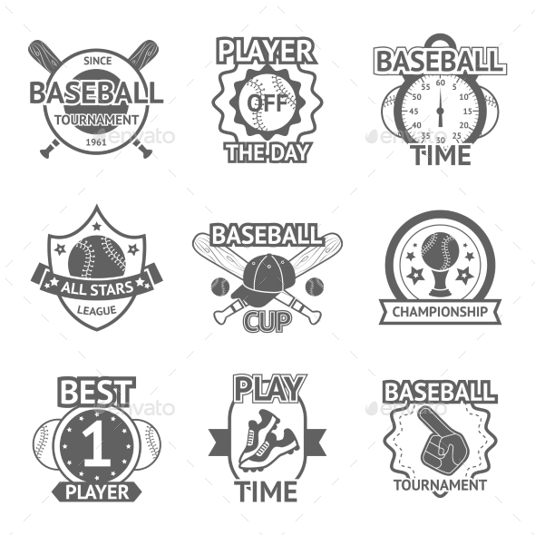 Baseball Emblems Set - Sports/Activity Conceptual