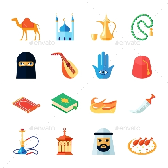 Arabic Culture Icon Flat - Religion Conceptual
