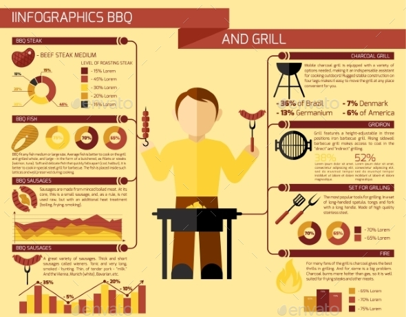 Bbq Grill Infographics - Food Objects