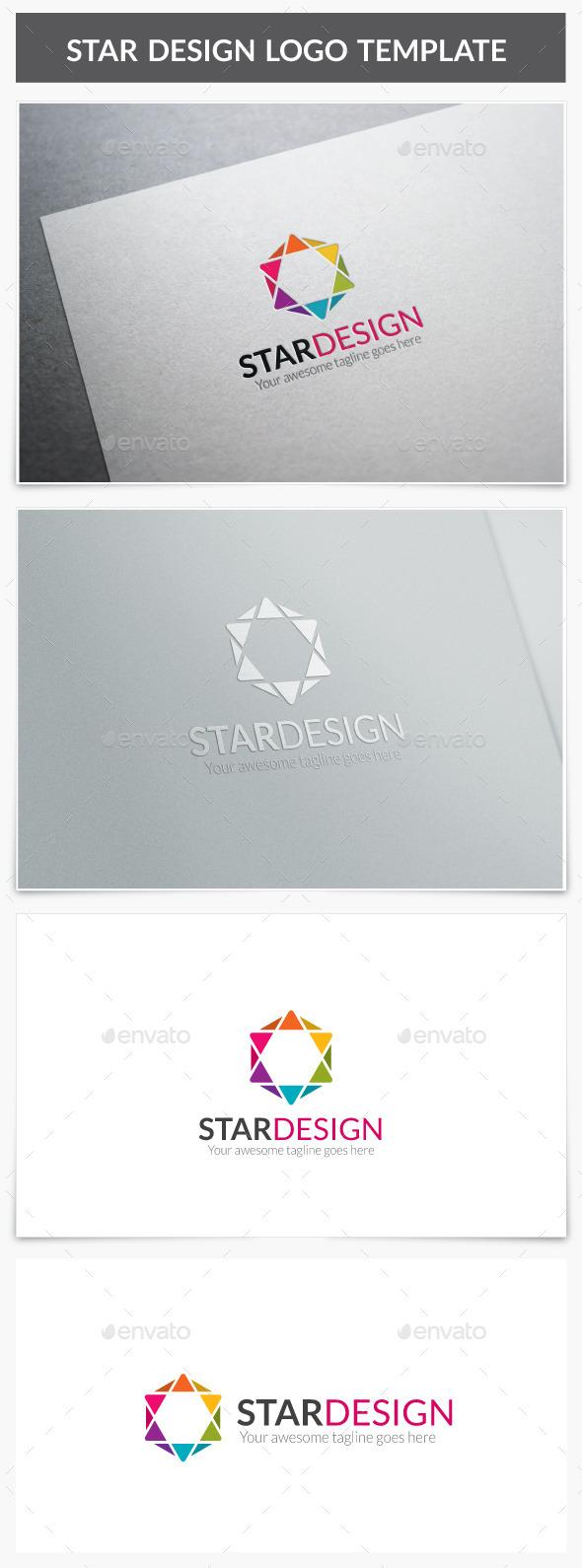 Star Design Logo - Vector Abstract