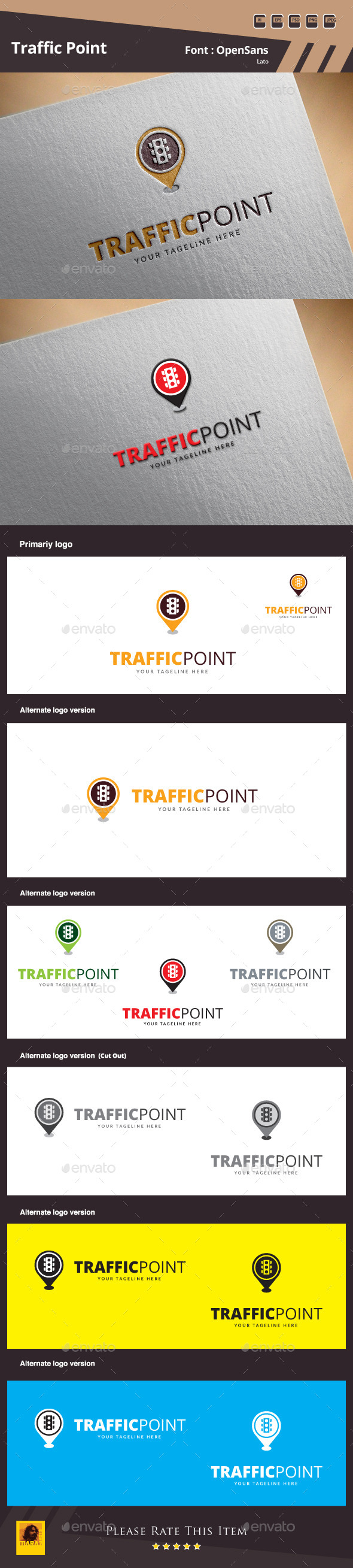 Traffic Point Logo Template - Symbols Logo Templates