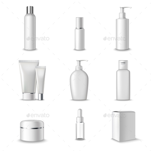 Cosmetics Packages Set - Decorative Vectors