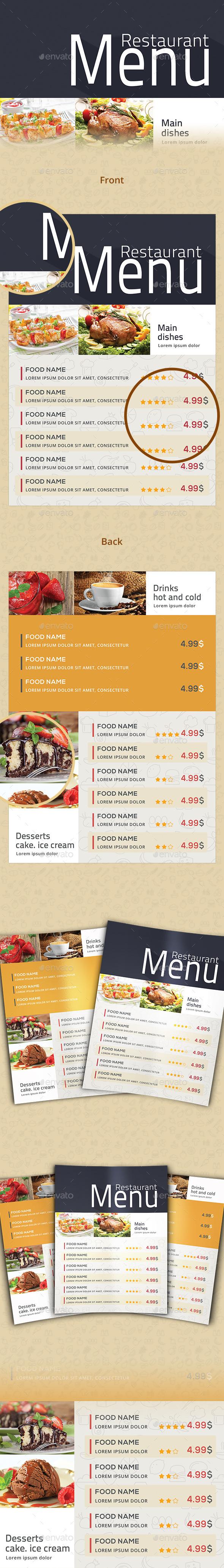 Restaurant Menu Flyer - Flyers Print Templates