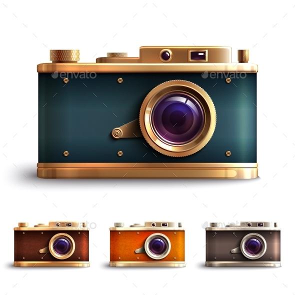Retro Style Camera Set - Retro Technology