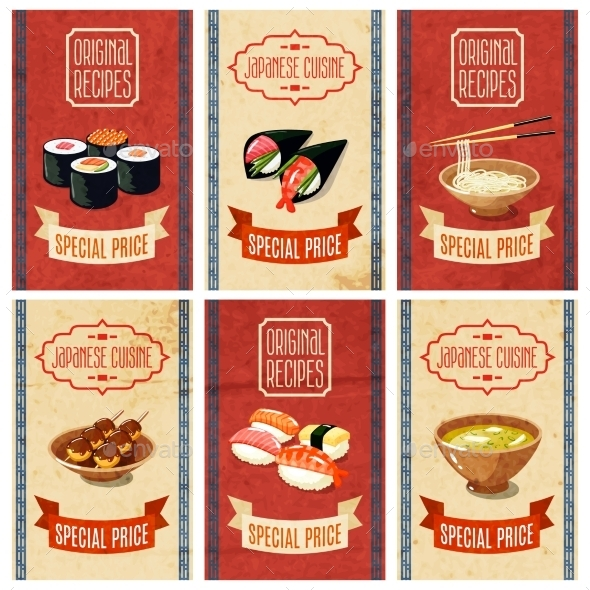 Asian Food Banners - Food Objects