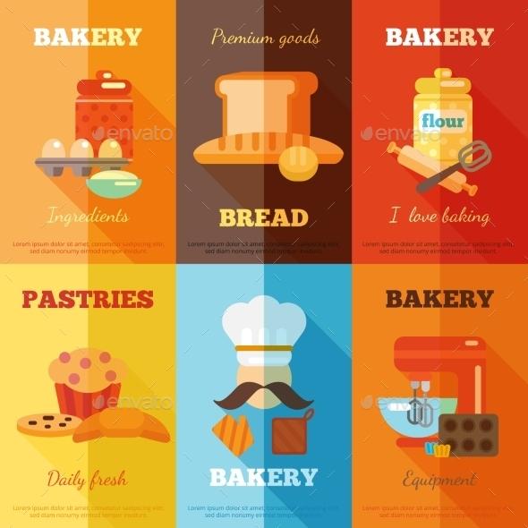 Bakery Mini Poster Set - Food Objects