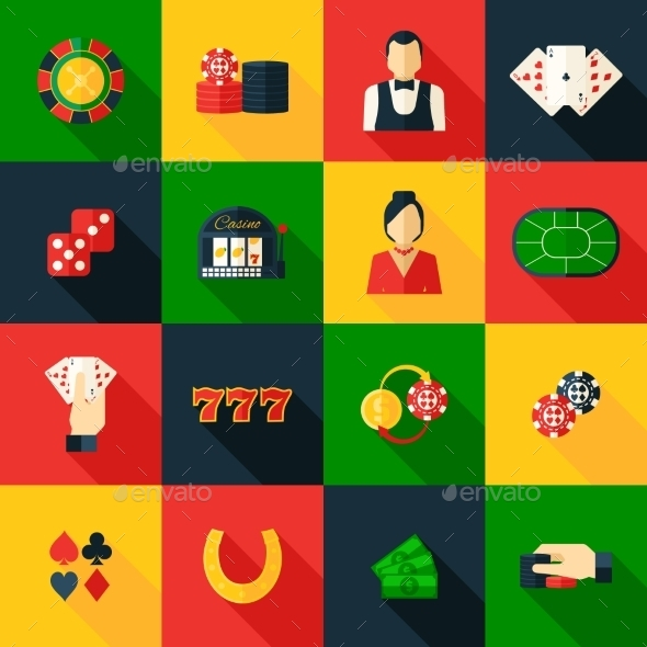 Casino Icon Flat - Miscellaneous Vectors