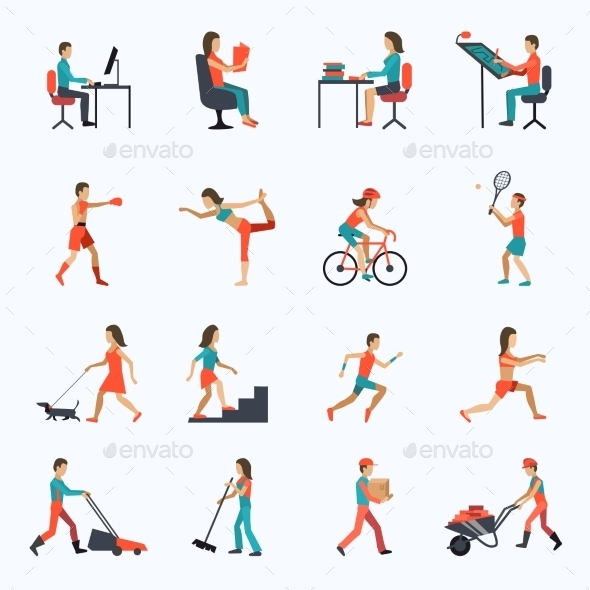Physical Activity Icons - Sports/Activity Conceptual
