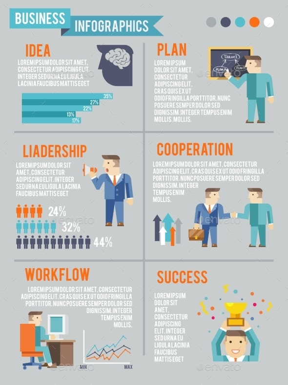 Businessman Working Infographics - Concepts Business