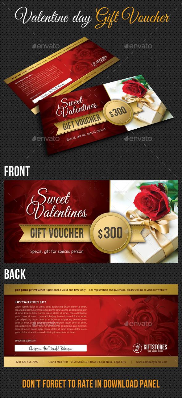 Valentine Gift Voucher V03 - Cards & Invites Print Templates