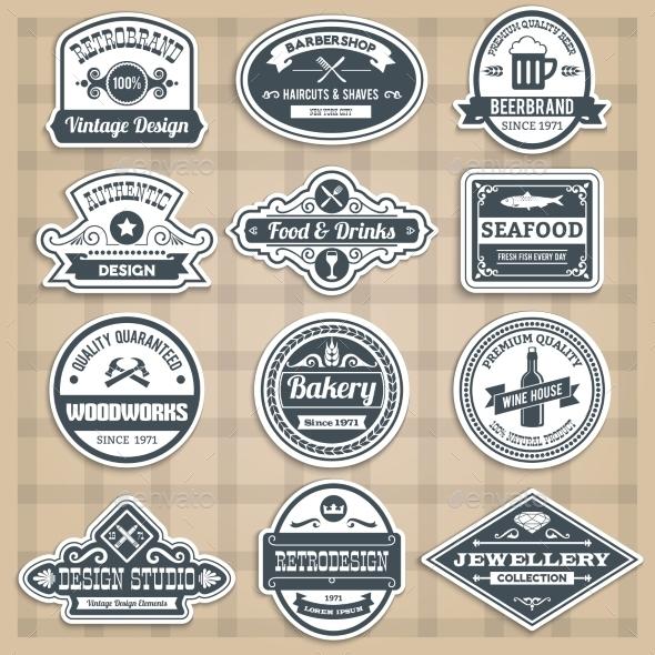 Retro Emblems Set - Miscellaneous Vectors