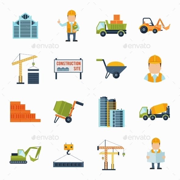 Construction Icons Flat - Miscellaneous Icons