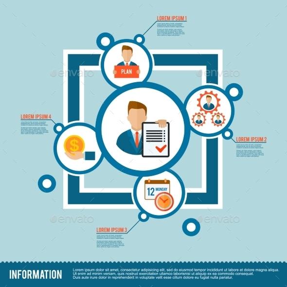 Management Icon Flat - Business Conceptual