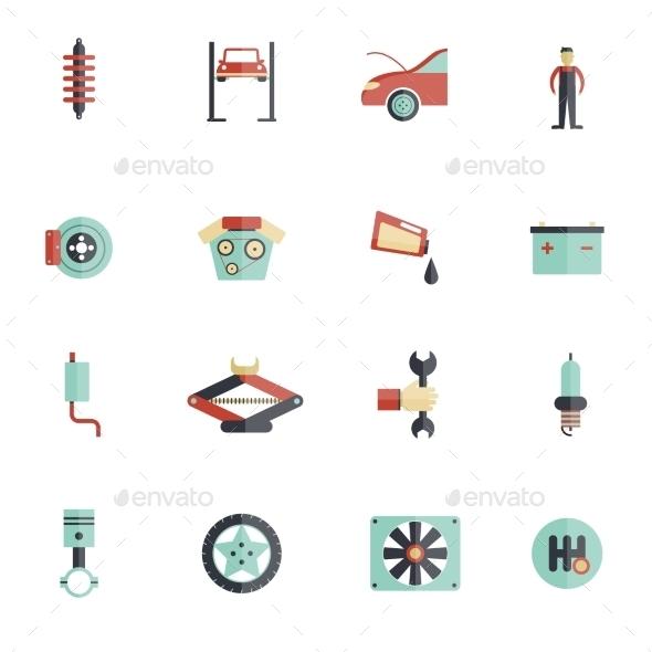 Auto Service Flat Icon - Miscellaneous Icons