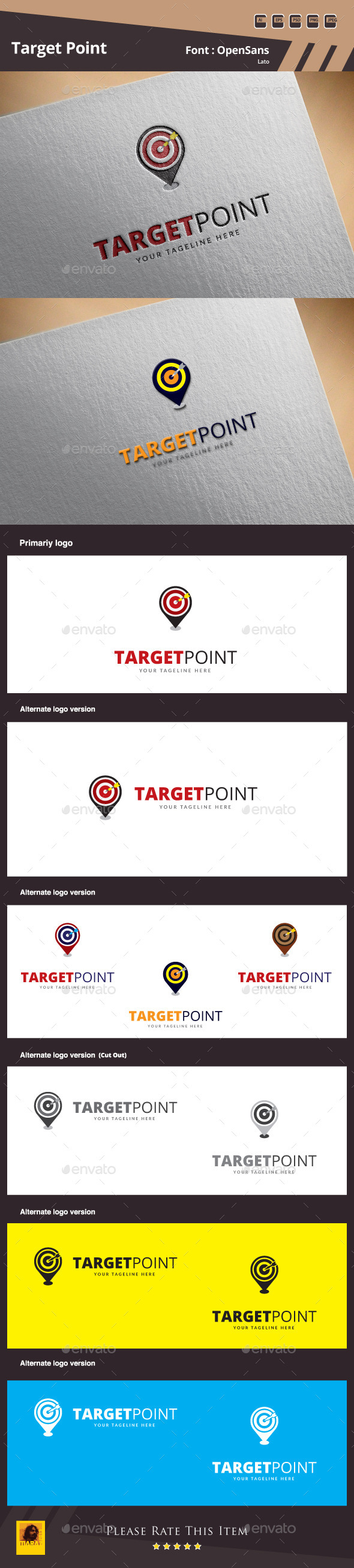 Target Point Logo Template - Symbols Logo Templates