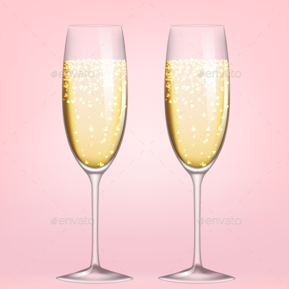 Glasses of Champagne - Miscellaneous Seasons/Holidays