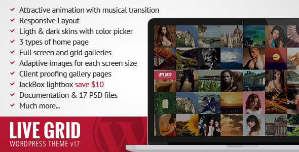 LIVE GRID – Responsive Interactive WordPress Theme