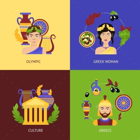 Greece Flat Set - Travel Conceptual