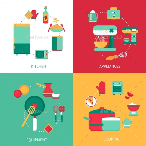 Kitchen Design Concept - Food Objects